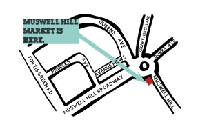 how to find Muswell Hill Market